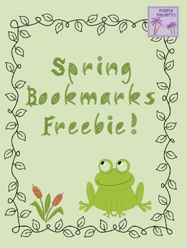 Spring Bookmarks Freebie!