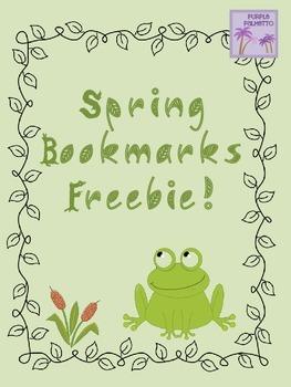 Spring Bookmarks Freebie!