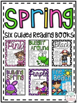Spring Easy Reader Guided Reading Books **Six Bundle Set**
