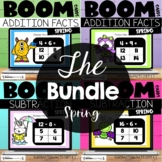 Spring Boom Cards™ Addition Subtraction Facts to 20 Bundle for 1st and 2nd Grade