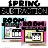 Spring Boom Cards™ Subtraction Facts to 20 Bundle for 1st and 2nd Grade