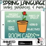 Spring Boom Cards™ in GIFS - Verbs, Present Progressive, Parts of Speech & More