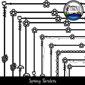 Spring Borders Clipart Bundle