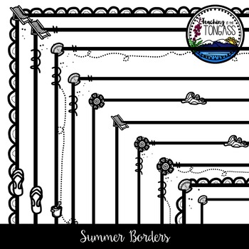 Summer Borders Clipart