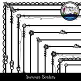 Summer Borders Clipart Bundle