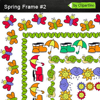 Spring Borders and Frames #2 by Clipartino | Teachers Pay Teachers