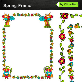Spring Borders and Frames