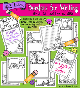 Spring Borders for Writing Download