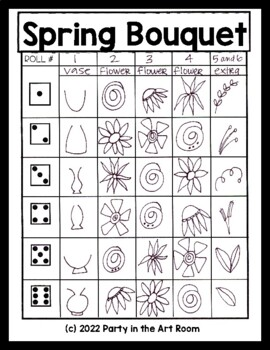 Spring Bouquet Art Game for Kids (Emergency Sub Plans)
