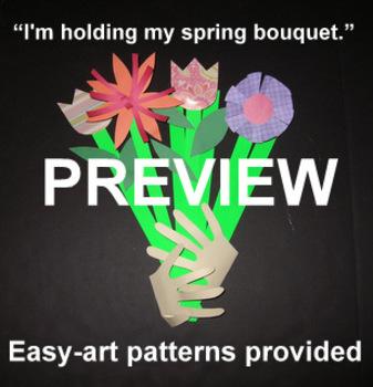 """Summer/Spring Bouquet"""" - an Easy-art Picking Flowers Craftivity"""