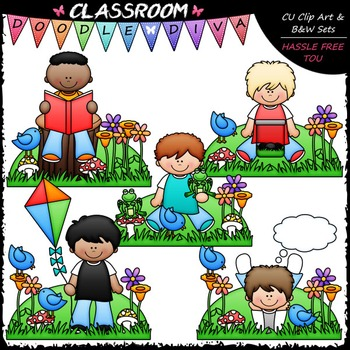 Spring Boys Clip Art - Spring Kids Clip Art