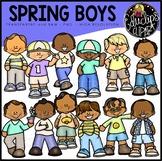 Spring Boys Clip Art Bundle {Educlips Clipart}