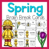 Spring Themed Brain Break Cards