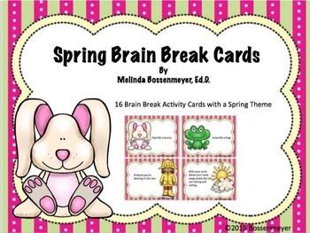 Spring Brain Break Cards