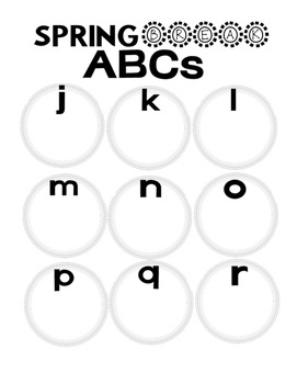 Spring Break ABC's and MORE