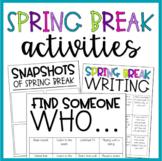 Spring Break Activities | Graphic Organizers