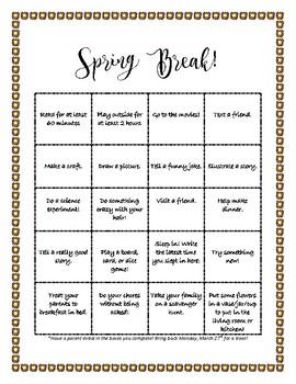 Spring Break BINGO!