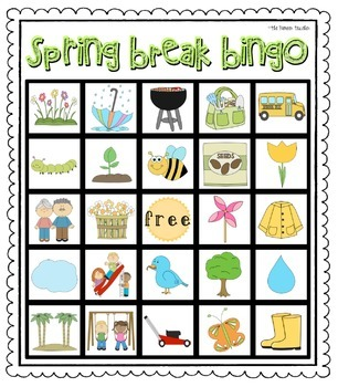 Spring Break Bingo
