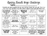 Spring Break Bingo Challenge