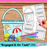 Spring Break: Writing: Bucket List Booklet