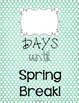 Spring Break Countdown Poster: FREEBIE!