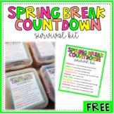 Spring/Summer Break Countdown Survival Kit Printable