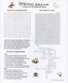Spring Break Crossword Wordsearch Maze