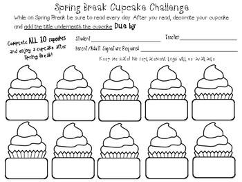 Spring Break Cupcake Challenge (Book Title)