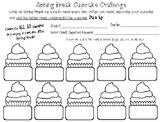 Spring Break Cupcake Reading Challenge (Letters)