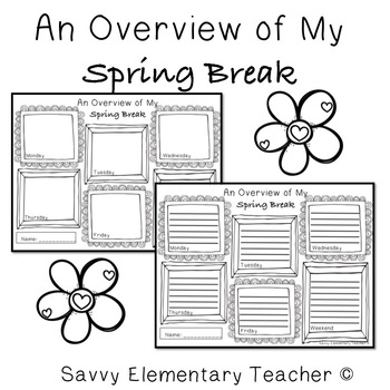 Spring Break Daily Drawing/Writing Activity