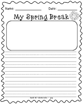 Spring Break Differentiated Writing for K-1
