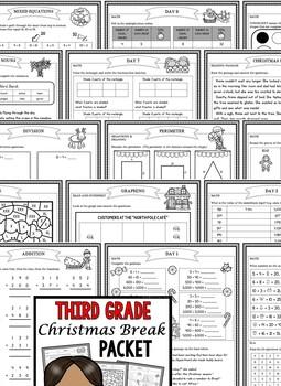 Christmas Packet: Third Grade Christmas Break Packet (Homework)