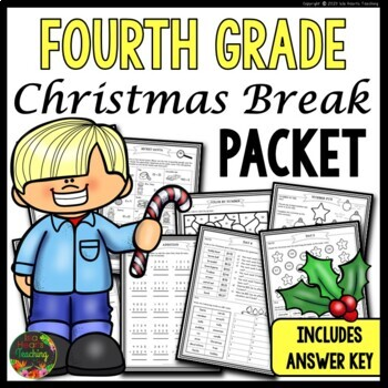 Christmas Packet: Fourth Grade Christmas Break Packet (Homework)