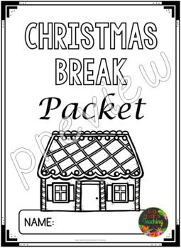 Christmas Packet: Fifth Grade Christmas Break Packet (Homework)