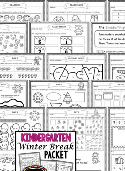Winter Break: Kindergarten Winter Break Packet