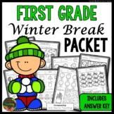 Winter Break: First Grade Winter Break Packet