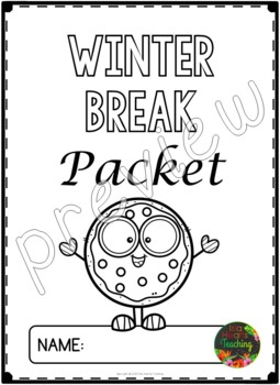 Winter Break: Third Grade Winter Break Packet