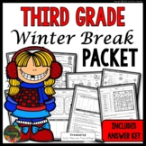 Winter Break: Third Grade Winter Break Packet
