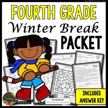 Winter Break: Fourth Grade Winter Break Packet