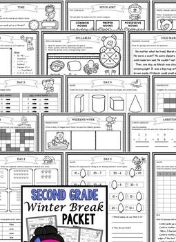 Winter Break: Second Grade Winter Break Packet