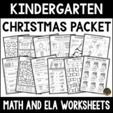 Christmas Activities - Kindergarten Christmas Worksheets (Math & ELA)