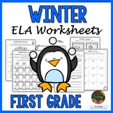 1st Grade Winter Printables (1st Grade Winter ELA Activities NO PREP)