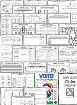 1st Grade Winter Math Worksheets: 1st Grade Winter ELA Worksheets NO ...