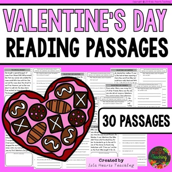 Valentine's Day Reading Comprehension Passages and Questions