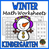 Kindergarten Winter Worksheets (Kindergarten Winter Math Activities NO PREP)
