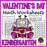 Valentine's Day - Kindergarten Valentine's Day Math Worksheets