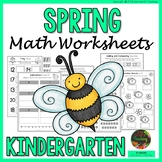 Kindergarten Spring Worksheets (Kindergarten Math Worksheets - SPRING NO PREP)