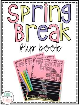 Spring Break Flip Book Writing Activity