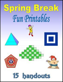 Spring Break Fun Printables