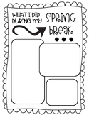Spring Break Graphic Organizer